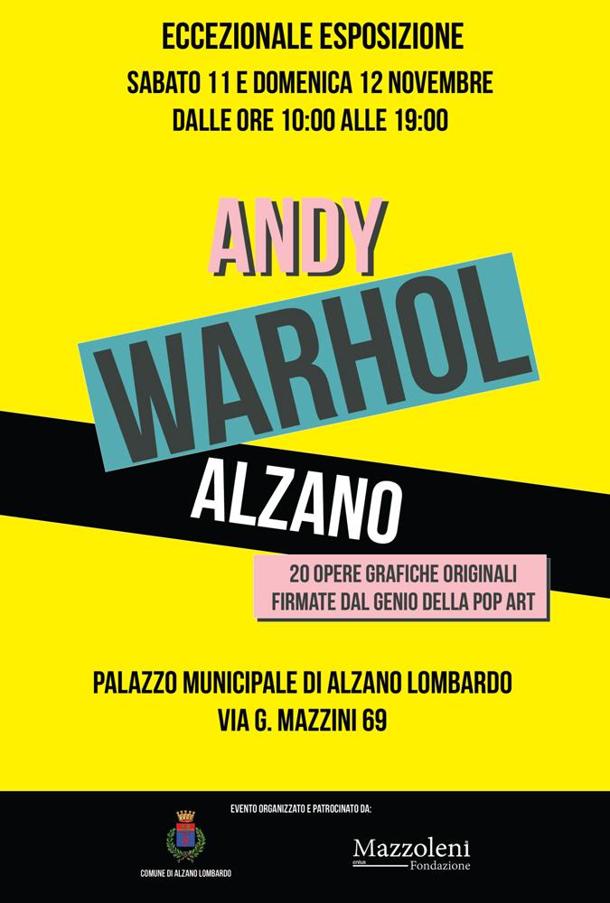 Locandina Andy Warhol Alzano Fronte